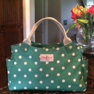 Cath Kidston Green polka dot bag